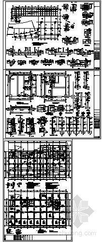 某高层梁筏板基础结构图(带人防)