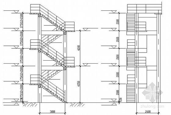 冷却塔爬梯节点构造详图