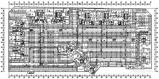 [成都]大型地下停车场全套弱电系统施工图纸