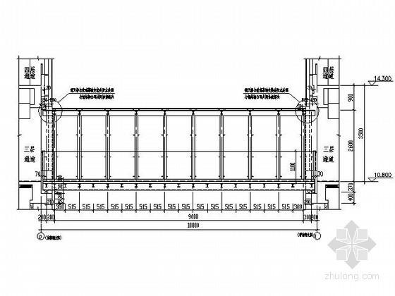 某商场间钢结构天桥节点详图