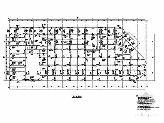 [福建]地上三层与二层现浇框架结构商业楼结构施工图