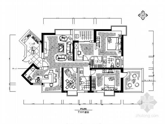 现代英伦风情四居室装饰设计方案(含实景)