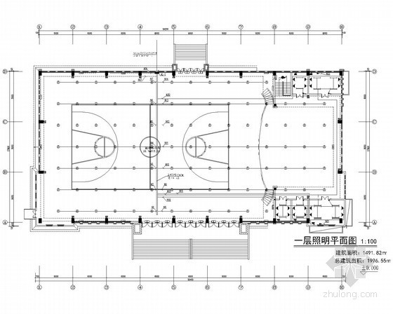 [重庆]露天屋顶体育馆强电施工图纸