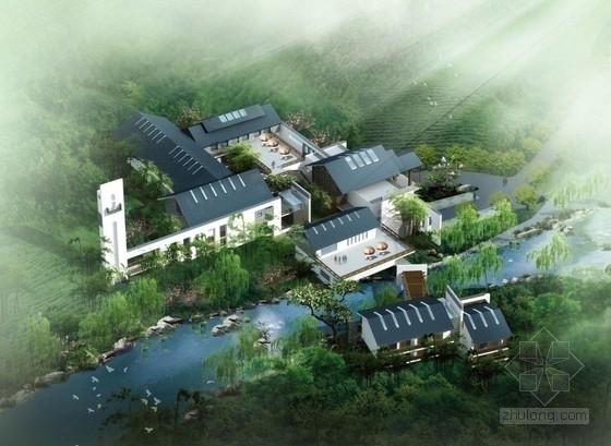 [南京]三层活泼造型组合多样性接待中心建筑设计方案文本