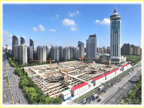 [上海]高层商业中心文明施工工地创建汇报(ppt 丰富图片)