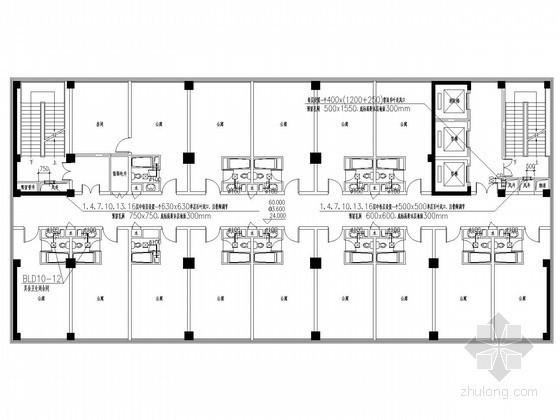 [江西]高层商业公寓楼机械通风及防排烟系统施工图
