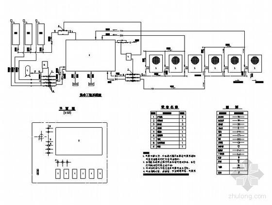 热泵供生活热水系统图