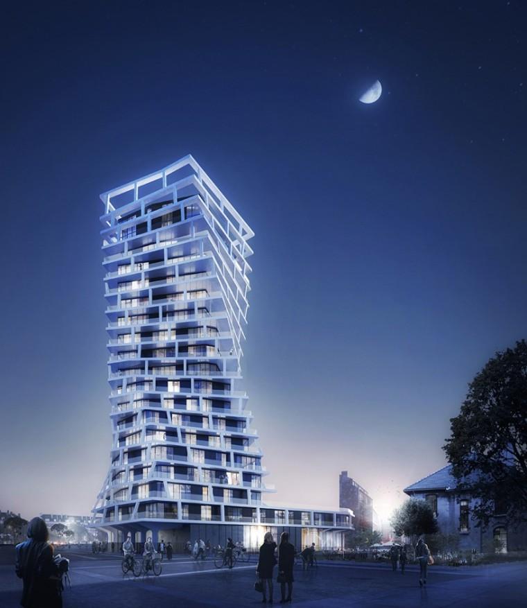 法国扭曲住宅塔楼