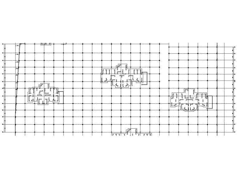 1240辆地下车库建筑结构施工图