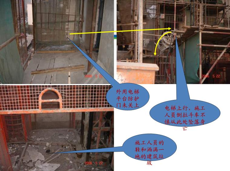 建筑工程施工事故案例分析及安全教育培训讲义(140余页)