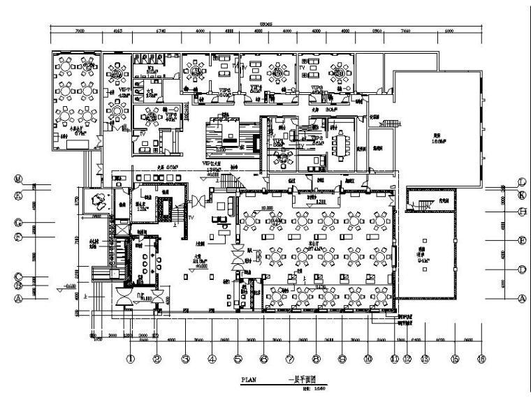 [河南]新中式酒店餐饮空间设计施工图(含效果图)