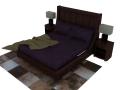 实木双人床3D模型下载