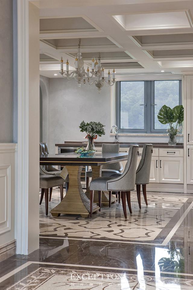 燕尔臻邸--深圳鲸山觐海复式软装设计-  「设计解读.餐厅」   第8张图片