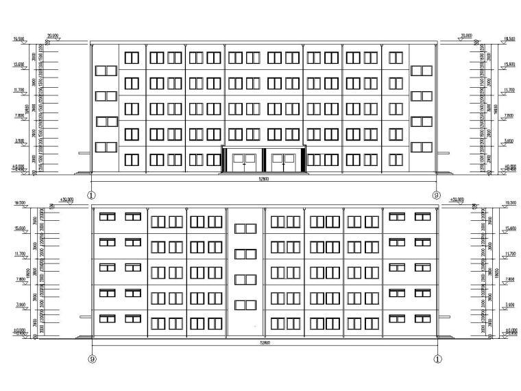 框架结构办公楼设计平面图资料下载-五层框架结构中学办公楼毕业设计(含建筑图、结构图、计算书)