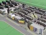 某工业居住区鸟瞰模型设计
