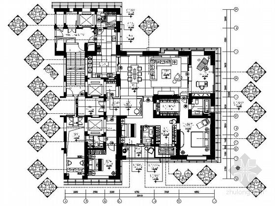 [福州]市中心高档现代四室两厅装修图(含方案)