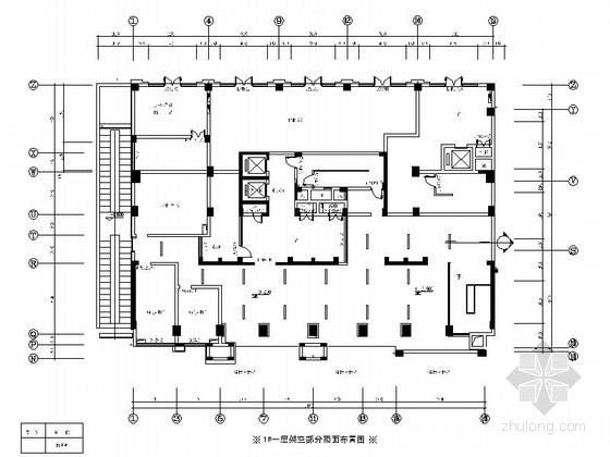[杭州]省级开发区高档现代办公楼门厅及电梯厅装修施工图