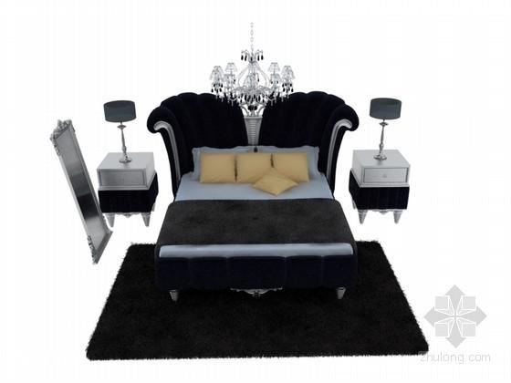欧式华丽床3D模型下载