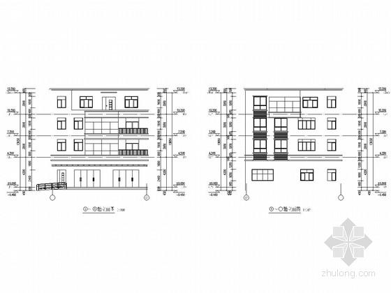 430平四层农村自建商住两用房建筑结构全套图