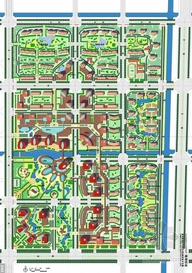 现代风格城市综合体总平面图