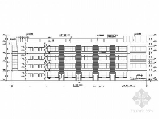 [山东]四层框架结构职业技术学院教学楼结构图(含建筑图)