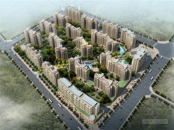 [湖南]古典风格高层住宅小区规划及建筑设计方案文本