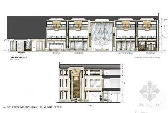 [青岛]连锁旅馆品牌高档五星级商务酒店设计方案立面图