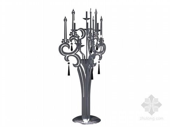 欧式烛光台灯3D模型下载