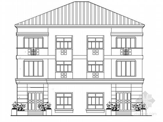 [新农村]三层双拼中式别墅施工图带效果图