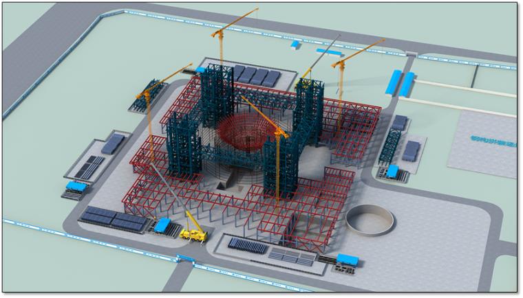 钢结构科技馆施工组织设计汇报(附图丰富,钢框架)_9