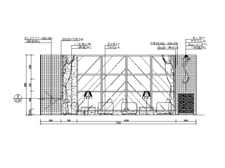 某现代风格西餐厅设计CAD施工图(含实景图)_2