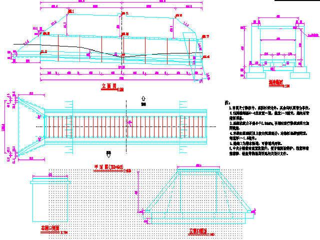 [四川]9km一级公路快速通道工程施工图设计429张CAD(路涵通道交安)