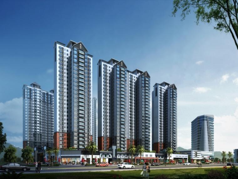 广东高层住宅楼项目悬挑式脚手架施工方案