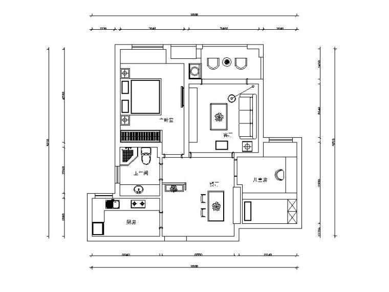[江苏]现代简约舒适优雅样板房室内设计施工图(含实景图)