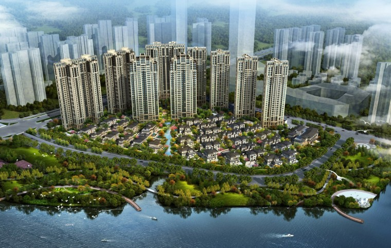 新古典沿街商业su模型资料下载-[广东]高层新古典风格低密度塔式住宅建筑设计方案文本