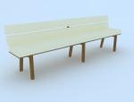 公共座椅3D模型下载