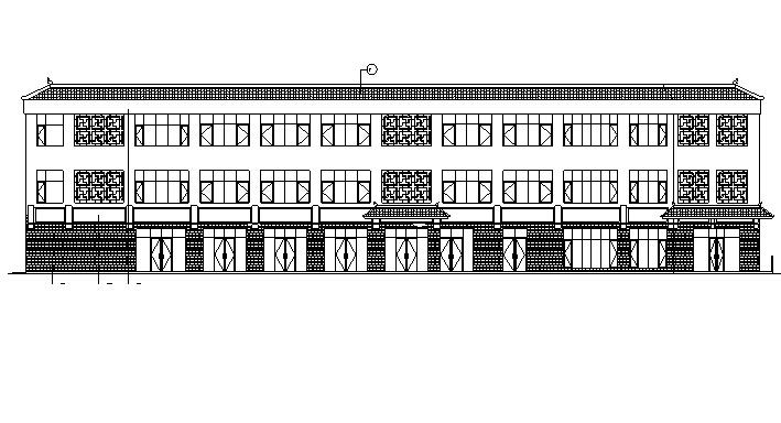 [北京]三层中式风格商业办公综合体建筑施工图