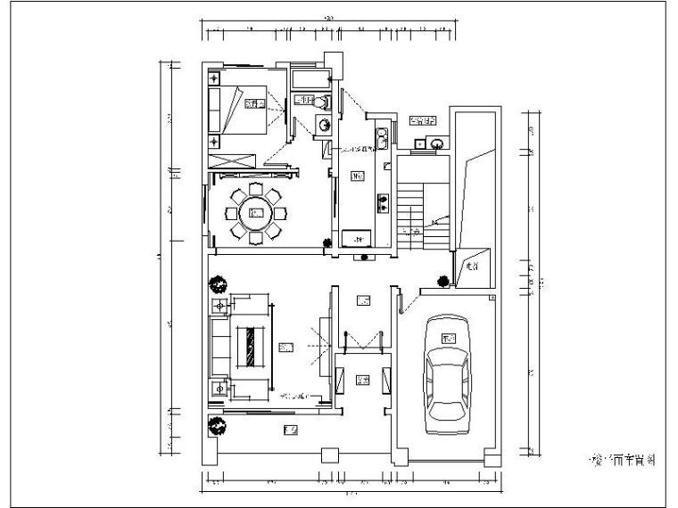 一套现代风格完整别墅设计施工图(含效果图)