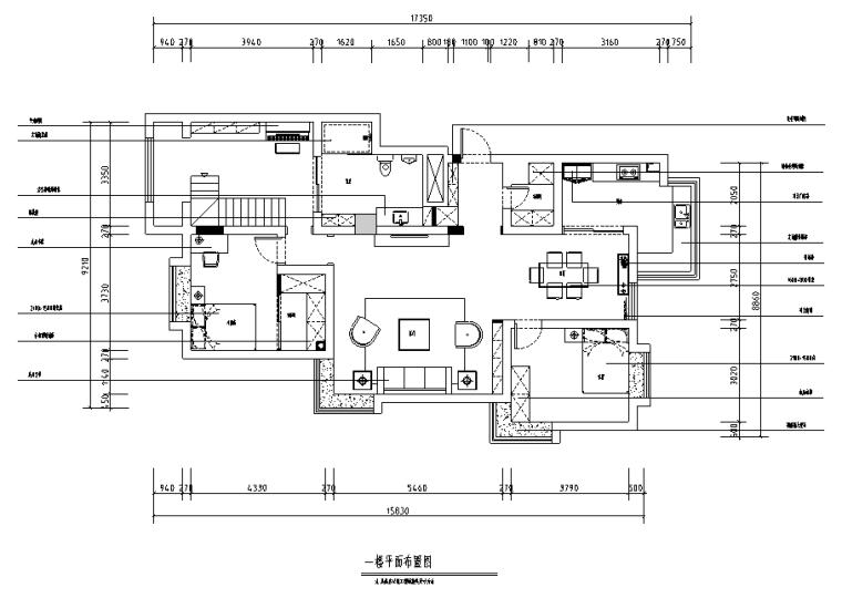 [山东]波普风210平米复式住宅设计施工图(附效果图)