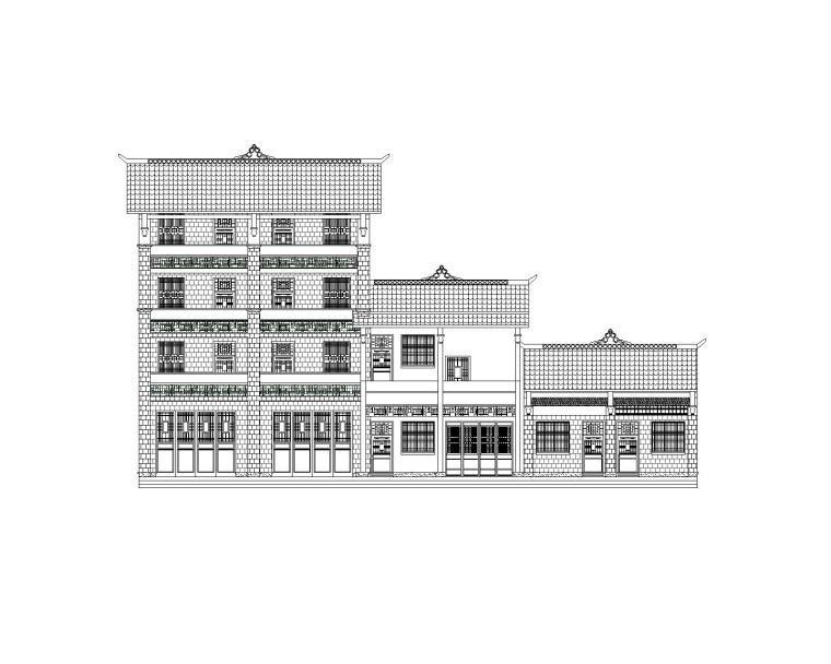 土家风貌建筑沿街立面(CAD)