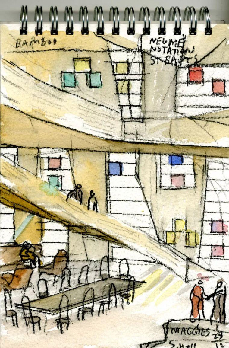 斯蒂文·霍尔在中国的首个作品展,向我们摊开了他个人的手绘本_43