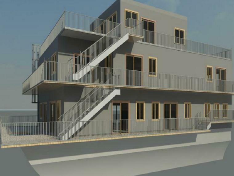 BIM模型-revit模型-船屋模型