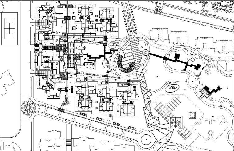 [广东]集贤庄新世纪城市花园限全套施工图设计(包含+155个CAD)
