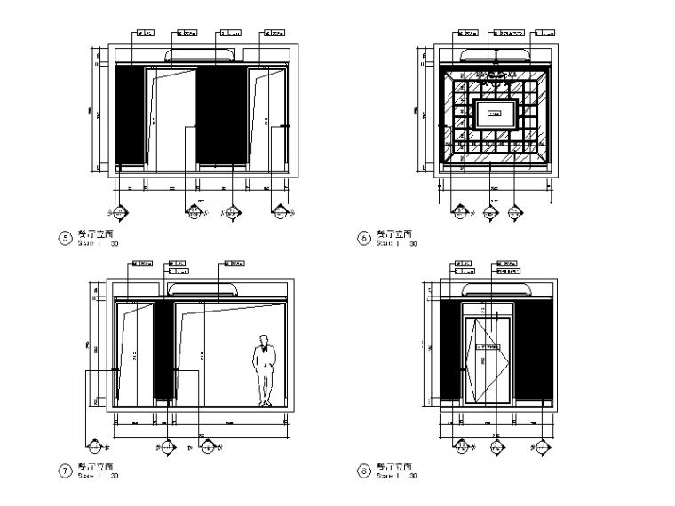 全套欧式风格样板房设计CAD施工图(含效果图)_3