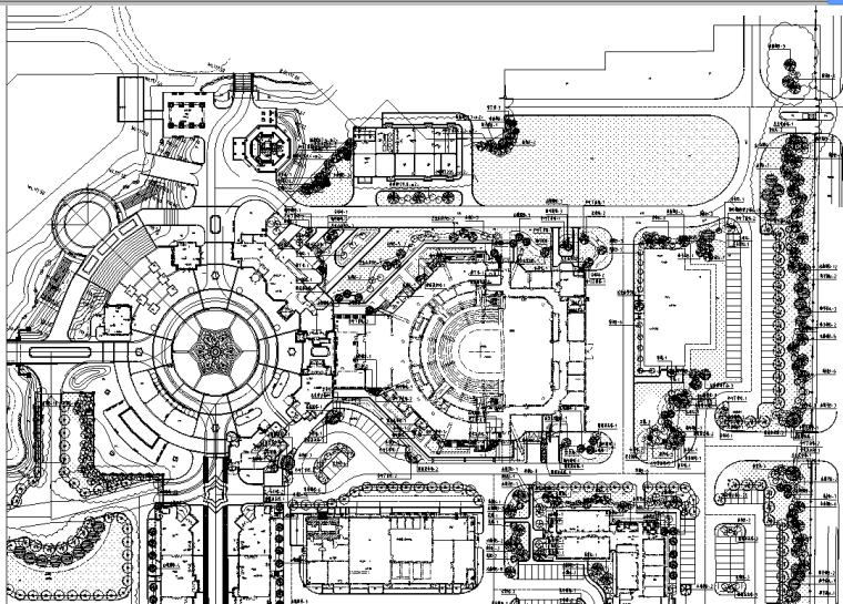 [哈尔滨]某地方大湖秀居住区景观设计全套施工图(基础加钢筋+推荐下载)