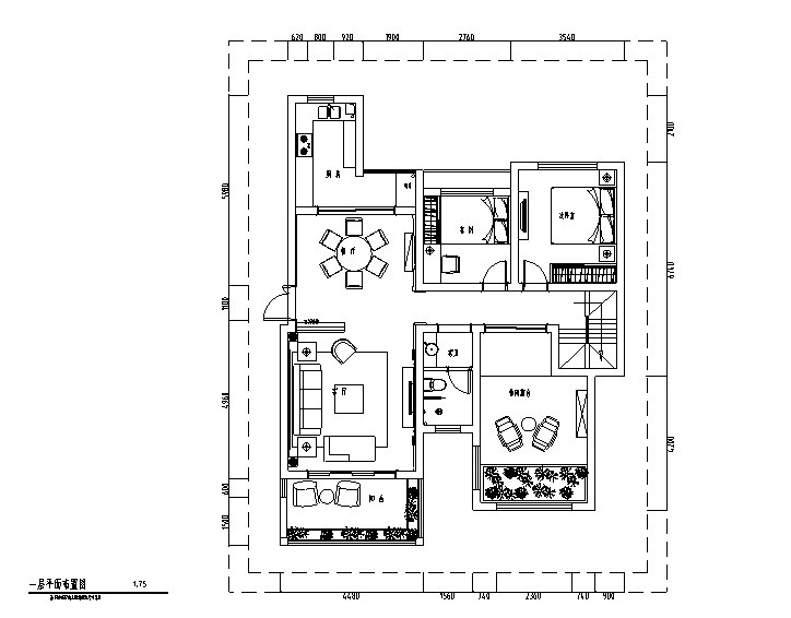 法式风格流金岁月别墅设计施工图(附效果图)