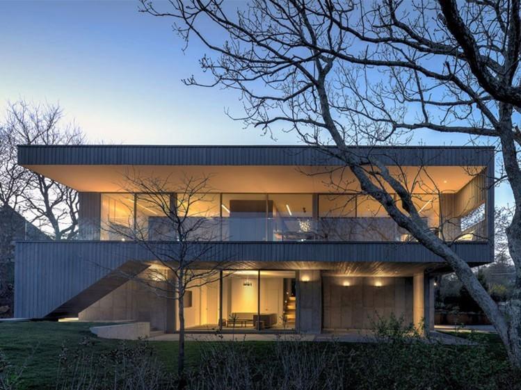美国混凝土的Montauk住宅