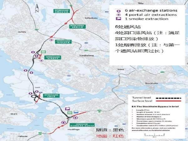 瑞典斯德哥尔摩E4第二通道工程的隧道通风设计简介