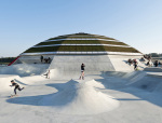 丹麦海滨的圆顶建筑公园