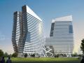 [江苏]框剪结构高层酒店商务楼与多层框架结构会议中心结构施工图(含全套幕墙结构)